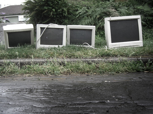 """Four Toxic Computer Monitors"" by Tonx"