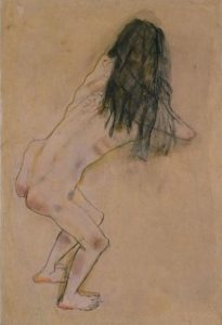 Nude with Back Turned by Oskar Kokoschka